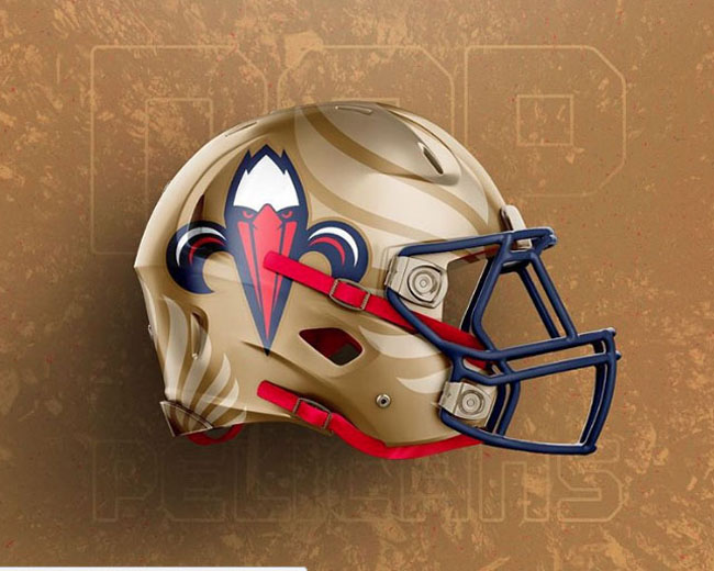 NBA Logos on Football Helmets. (30)