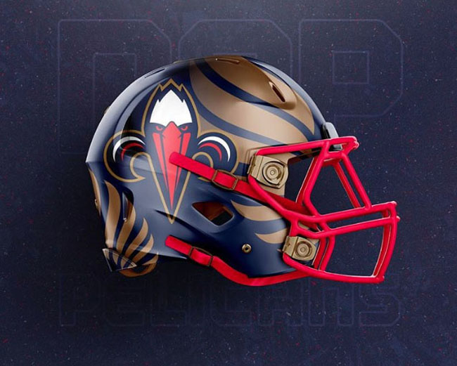 NBA Logos on Football Helmets. (29)