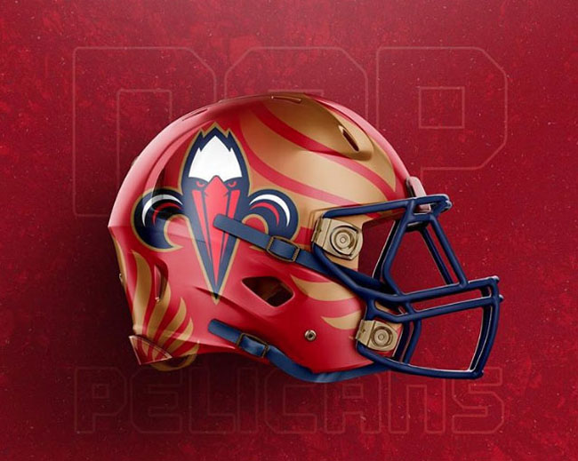 NBA Logos on Football Helmets. (28)