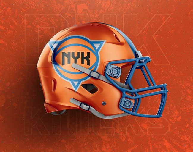 NBA Logos on Football Helmets. (26)