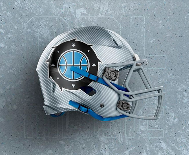 NBA Logos on Football Helmets. (21)