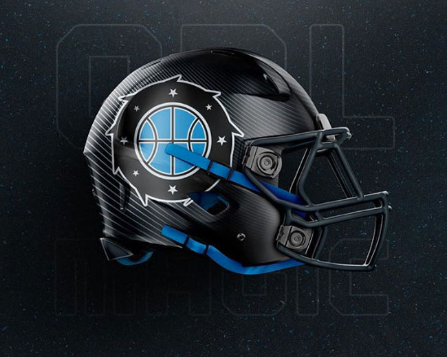 NBA Logos on Football Helmets. (20)