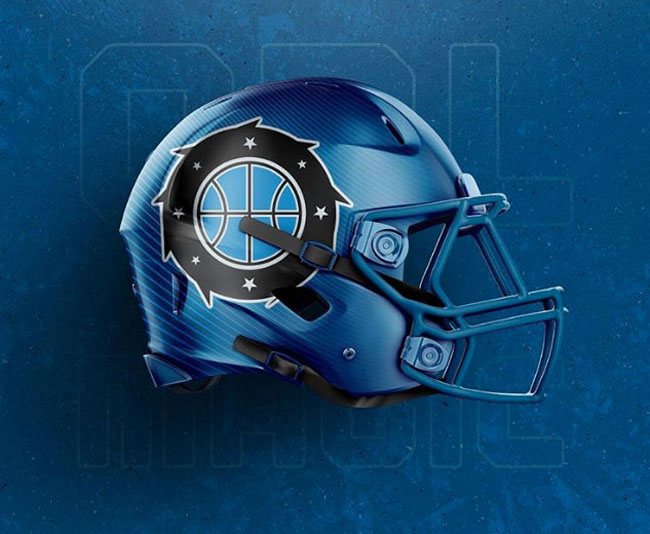 NBA Logos on Football Helmets. (19)