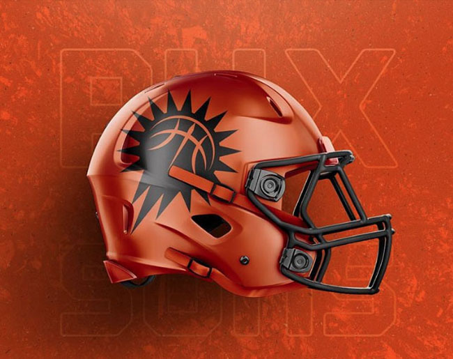 NBA Logos on Football Helmets. (18)
