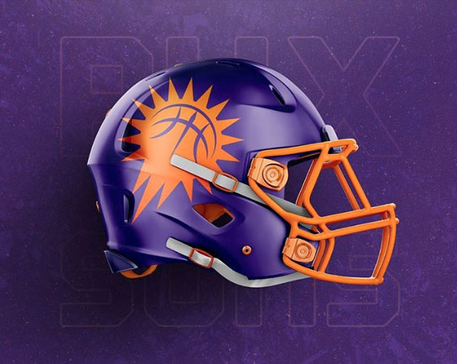 NBA Logos on Football Helmets. (17)