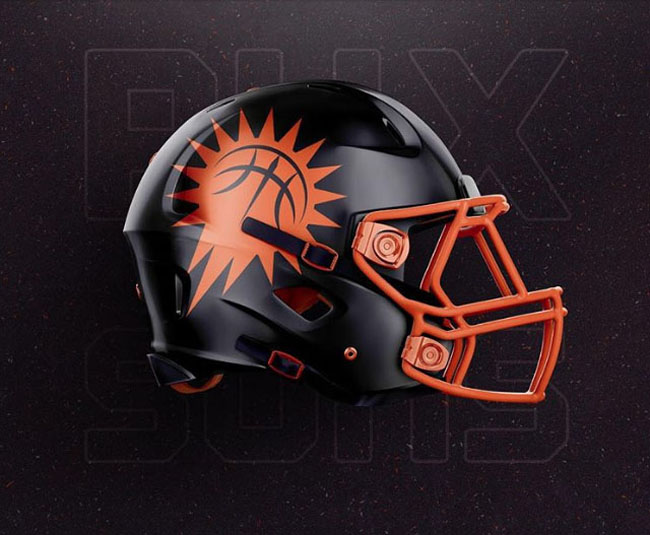 NBA Logos on Football Helmets. (16)