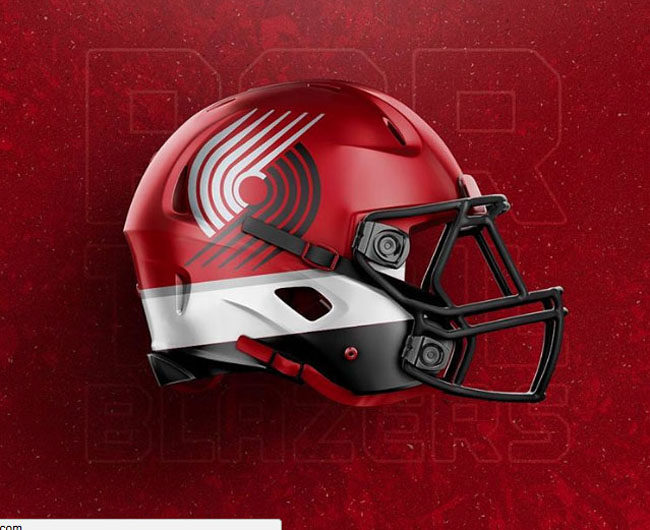 NBA Logos on Football Helmets. (15)