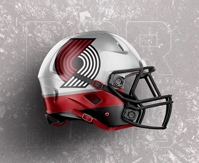 NBA Logos on Football Helmets. (13)