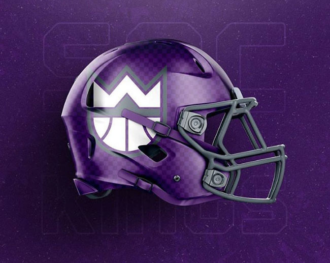 NBA Logos on Football Helmets. (11)