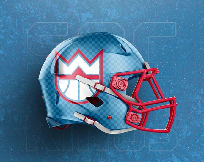 NBA Logos on Football Helmets. (10)