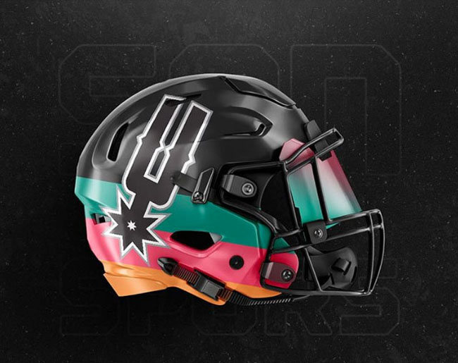 NBA Logos on Football Helmets. (9)