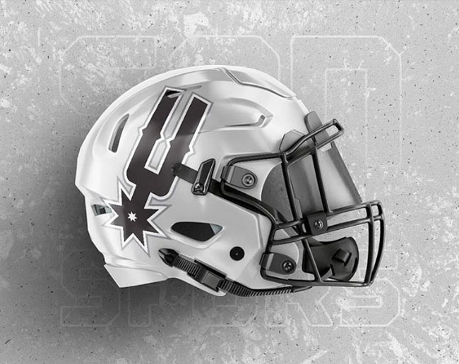 NBA Logos on Football Helmets. (8)