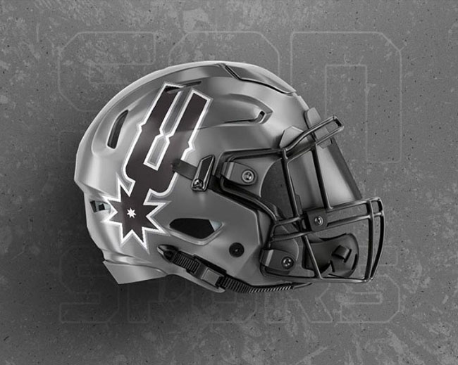 NBA Logos on Football Helmets. (7)