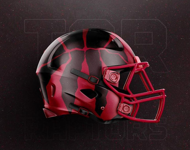 NBA Logos on Football Helmets. (6)