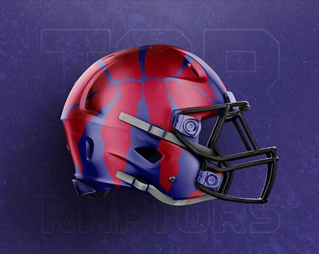 NBA Logos on Football Helmets. (4)
