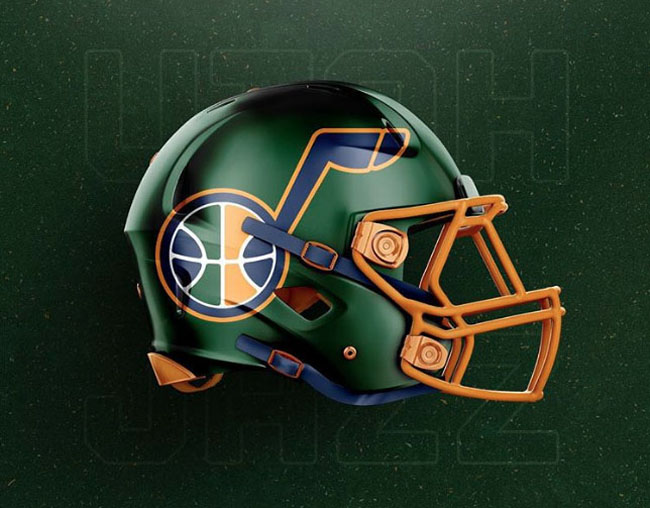 NBA Logos on Football Helmets. (3)
