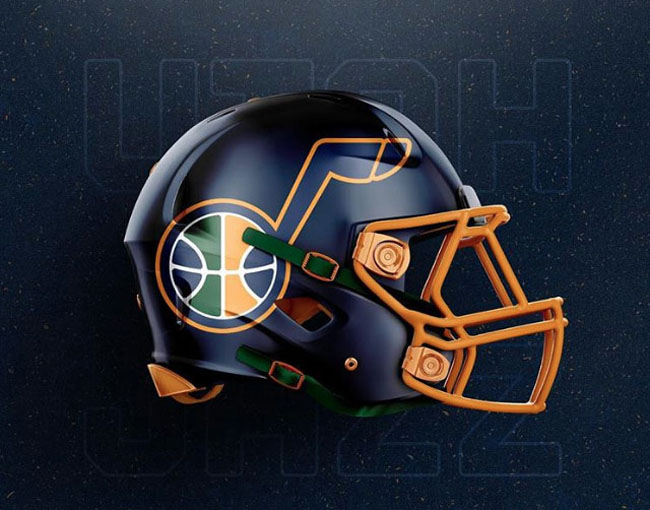 NBA Logos on Football Helmets. (2)