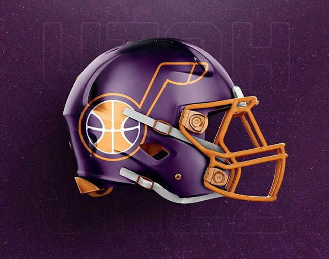 NBA Logos on Football Helmets. (1)
