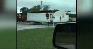Watch This Train Spilt a Semi in Half (Video.) (1)