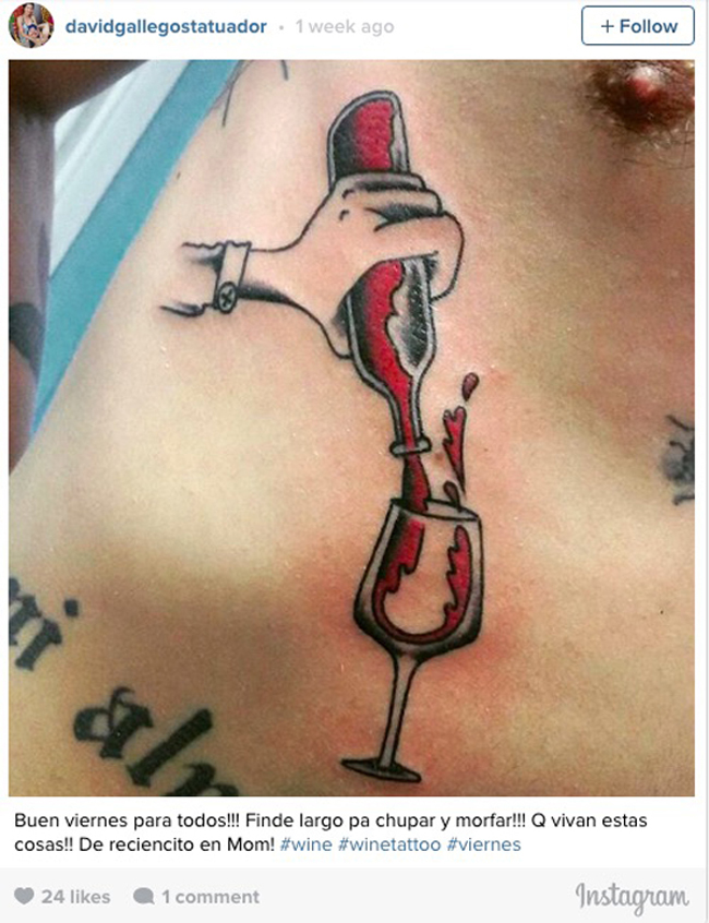 Wine tattoos. (18)