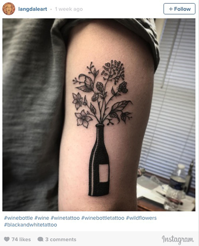 Wine tattoos. (15)