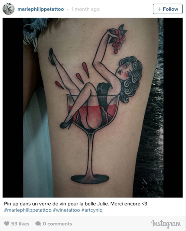 Wine tattoos. (13)