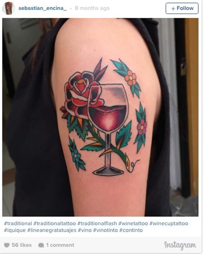 Wine tattoos. (3)